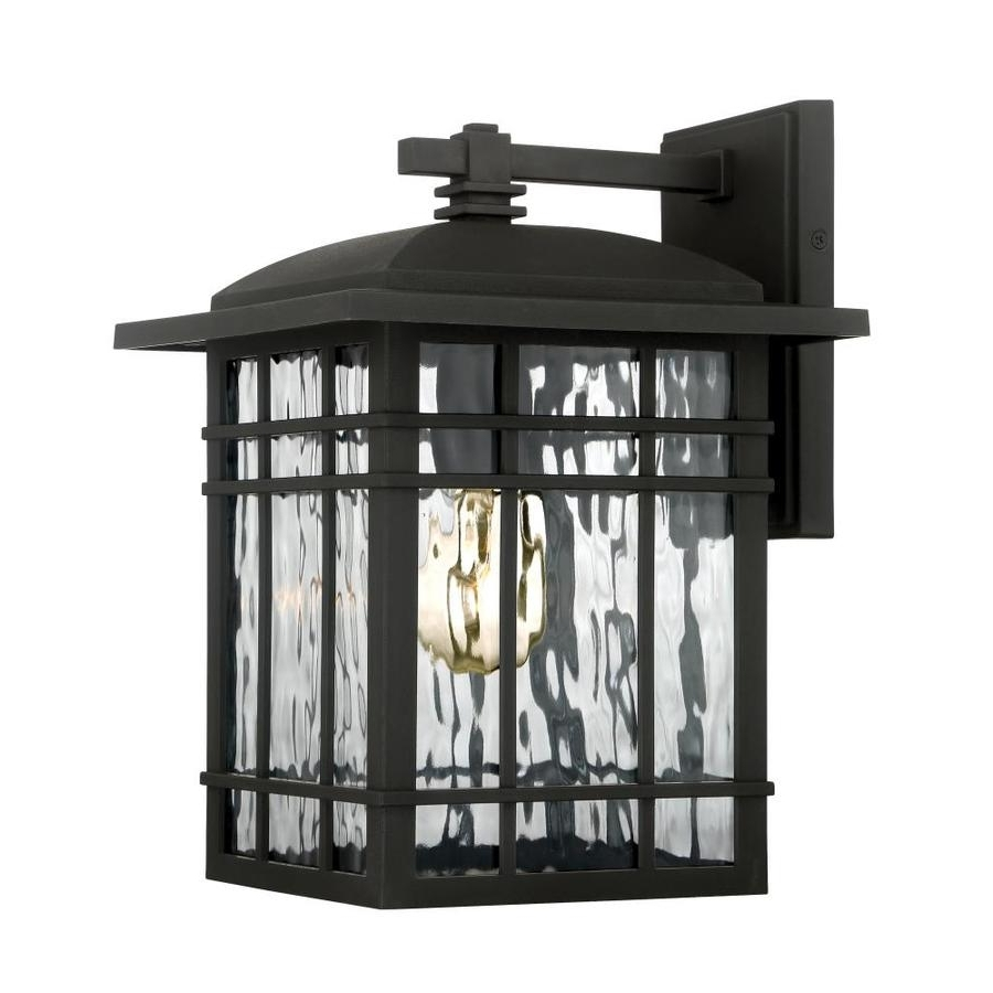 Recent Quoizel Outdoor Lanterns Intended For Shop Quoizel Canyon 12.75 In H Matte Black Outdoor Wall Light At (Gallery 9 of 20)