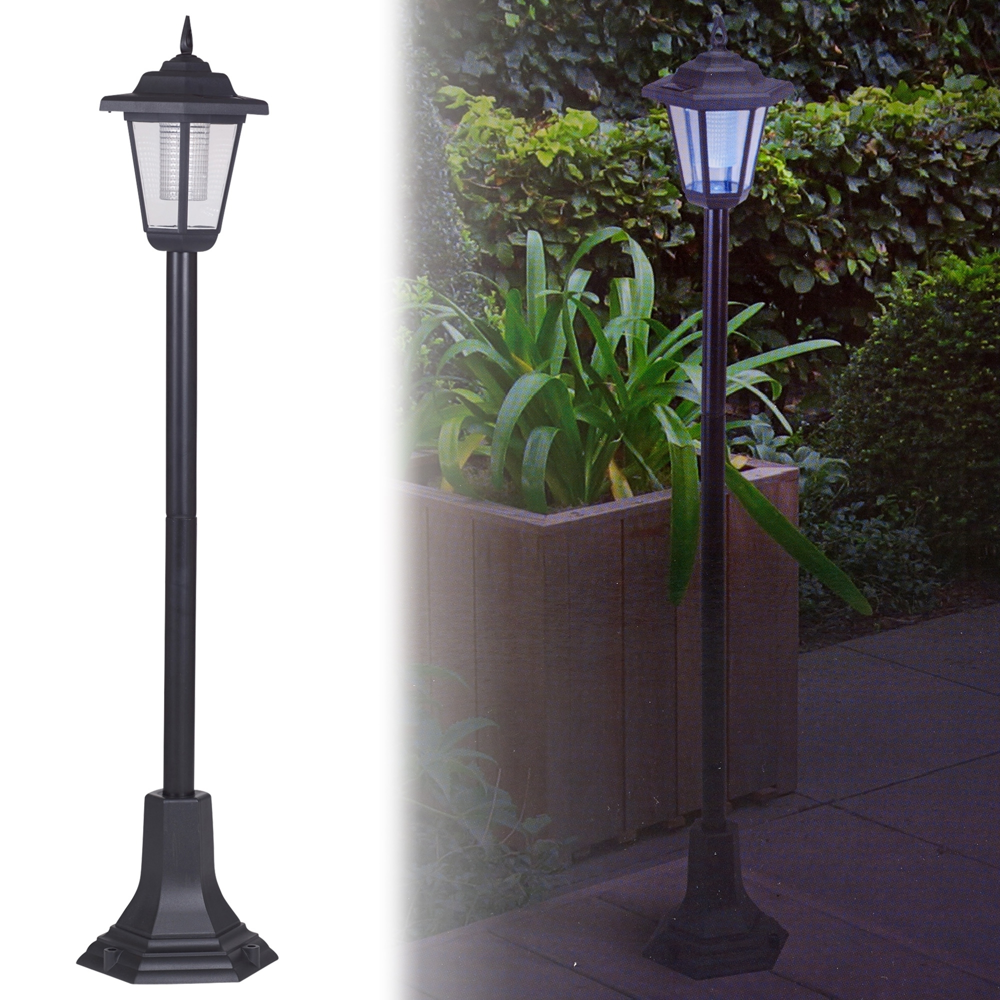 Recent Solar Powered Garden Lights Lantern Lamp Black Led Pathway Driveway Intended For Outdoor Ground Lanterns (View 17 of 20)