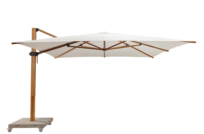 Recent Sunbrella Teak Umbrellas With Regard To Bjorn Modern Teak Cantilever Umbrella 360 Rotation Plantation Ocean (View 18 of 20)