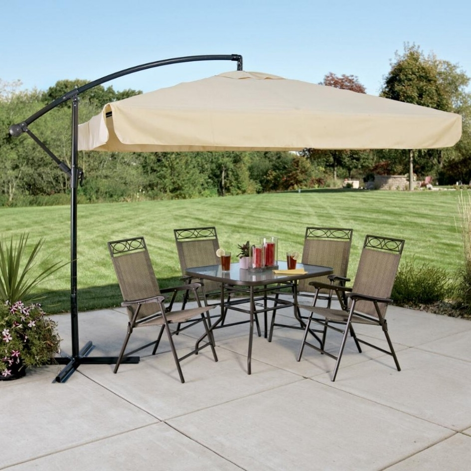 Rectangular Offset Patio Umbrellas Throughout Preferred Patio: Setting Your Patio Decoration With Lowes Patio Umbrella (View 11 of 20)