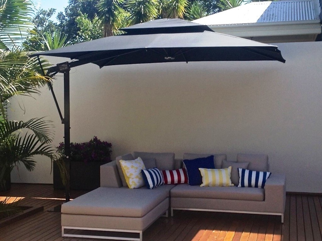 Rectangular Outdoor Umbrella Steel Offset Patio With – Arelisapril Throughout Well Known Offset Rectangular Patio Umbrellas (View 19 of 20)