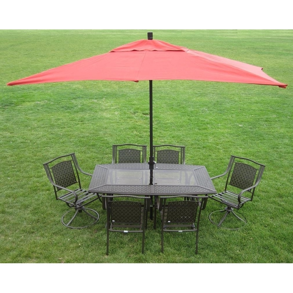 Rectangular Patio Umbrellas For Popular Shop Premium 10 Foot Rectangular Patio Umbrella With Stand – Free (Gallery 15 of 20)