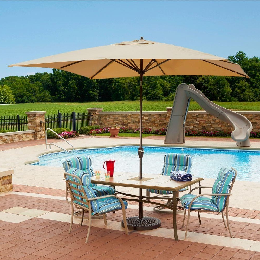 Rectangular Sunbrella Patio Umbrellas Inside Favorite Island Umbrella Caspian 8 Ft. X 10 Ft (View 11 of 20)