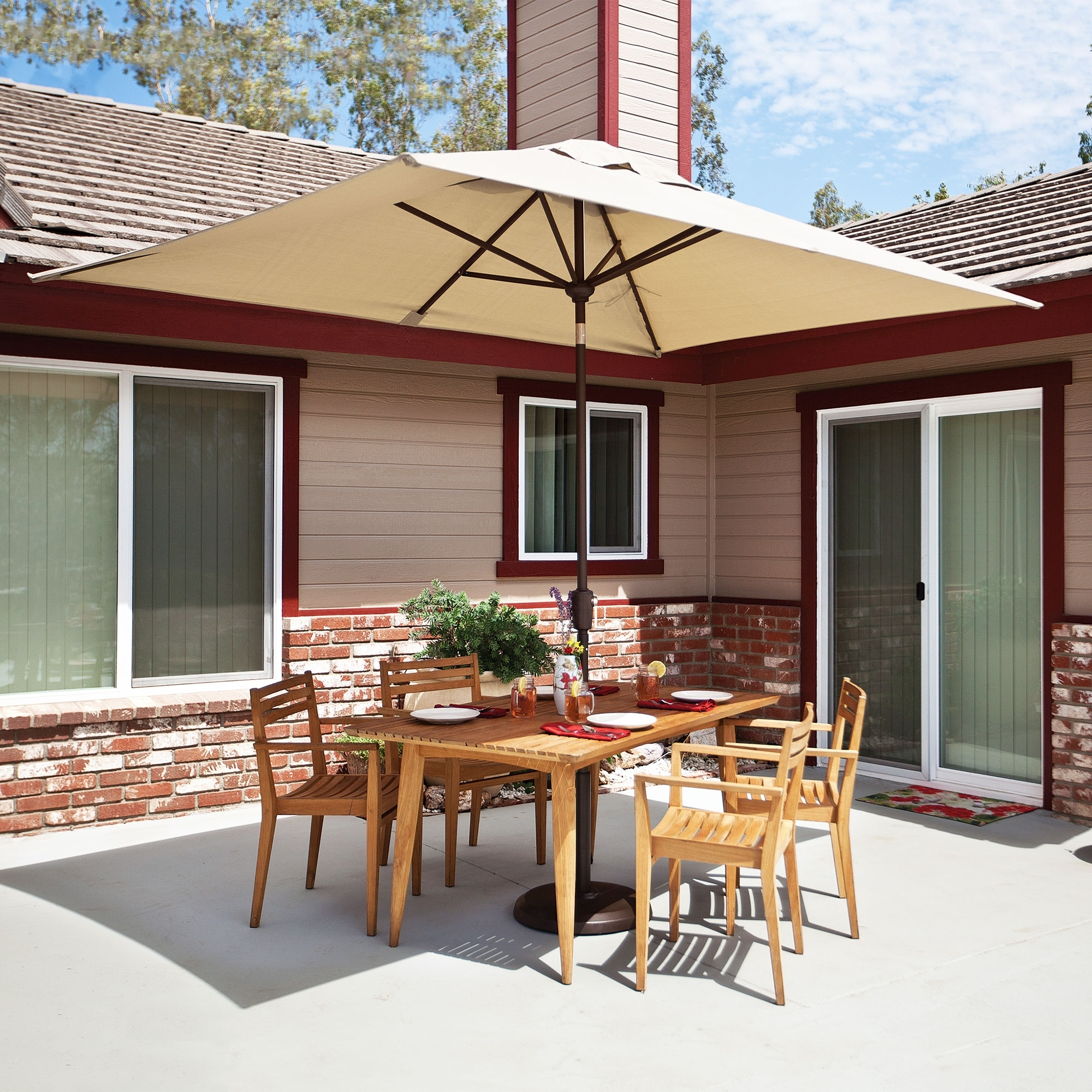 Rectangular Sunbrella Patio Umbrellas Intended For Best And Newest Simplyshade Catalina  (View 12 of 20)