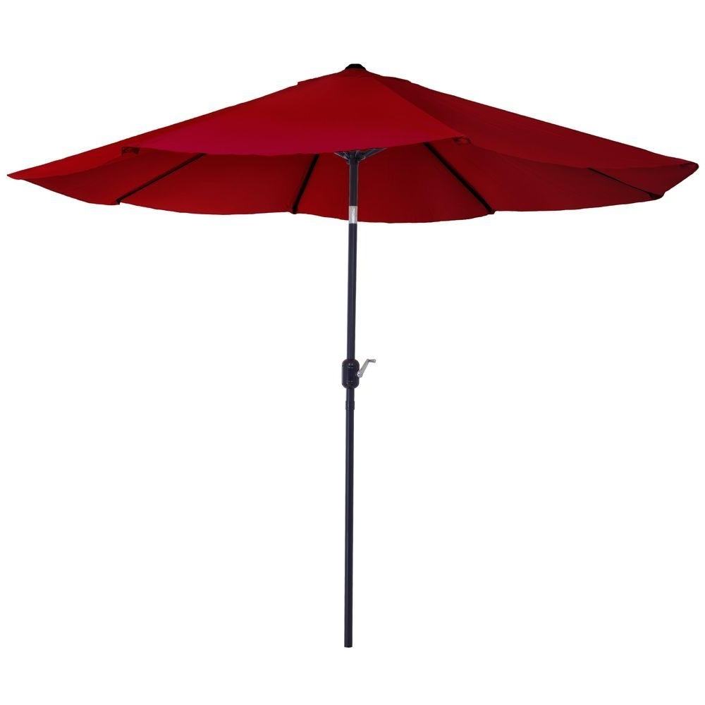 Red Patio Umbrellas Inside Recent Pure Garden 10 Ft (View 14 of 20)