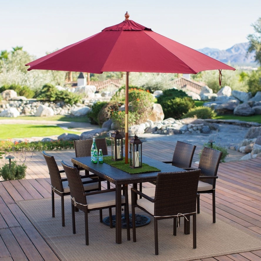 Red Patio Umbrellas Throughout Preferred Commercial Patio Umbrella Small : Ifso2016 – Cool Commercial (View 16 of 20)