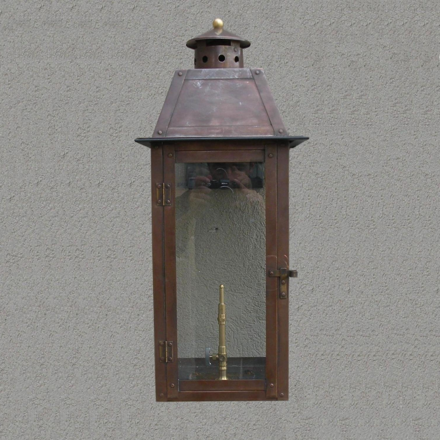 Regency Gl25 Monroe Rue Natural Gas Light With Open Flame Burner And Regarding Trendy Outdoor Gas Lanterns (View 17 of 20)
