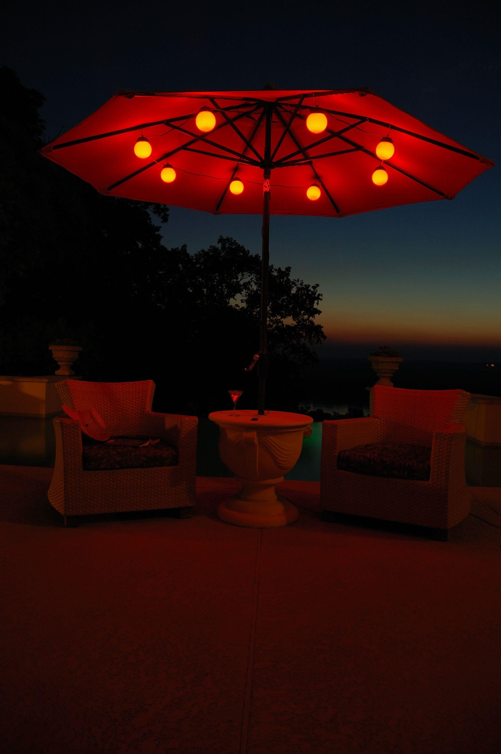 Rememberingfallenjs Inside Latest Outdoor Umbrella Lanterns (View 15 of 20)