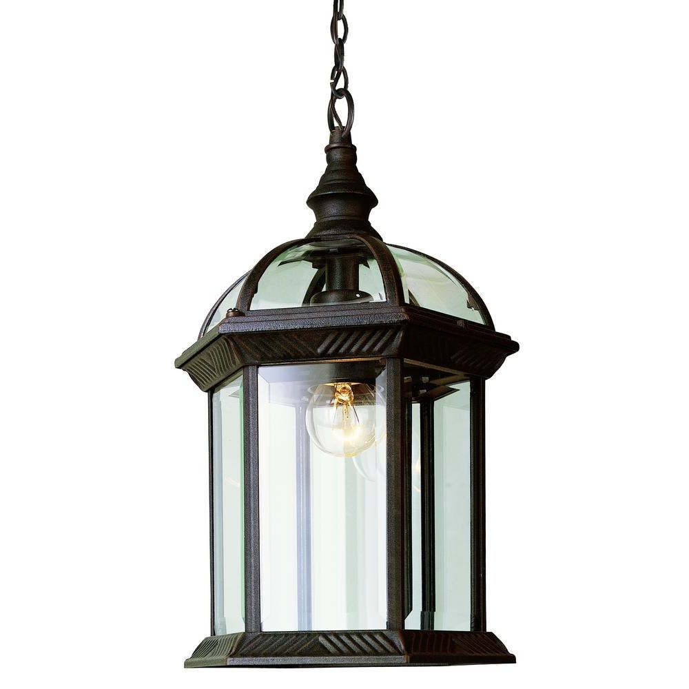 Rust Proof Outdoor Lanterns Pertaining To Famous Bel Air Lighting Atrium 1 Light Outdoor Hanging Rust Lantern With (View 3 of 20)