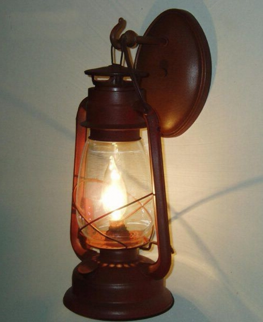 Rustic Outdoor Electric Lanterns Within Most Recently Released Lantern Sconce – Pixball (View 11 of 20)