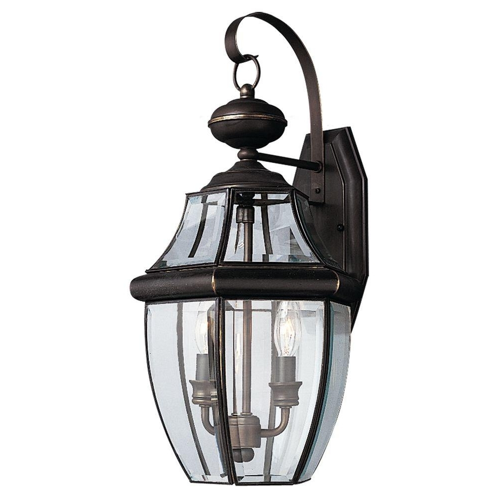 Sea Gull Lighting Lancaster 2 Light Antique Bronze Outdoor Wall Intended For Popular Antique Outdoor Lanterns (View 16 of 20)