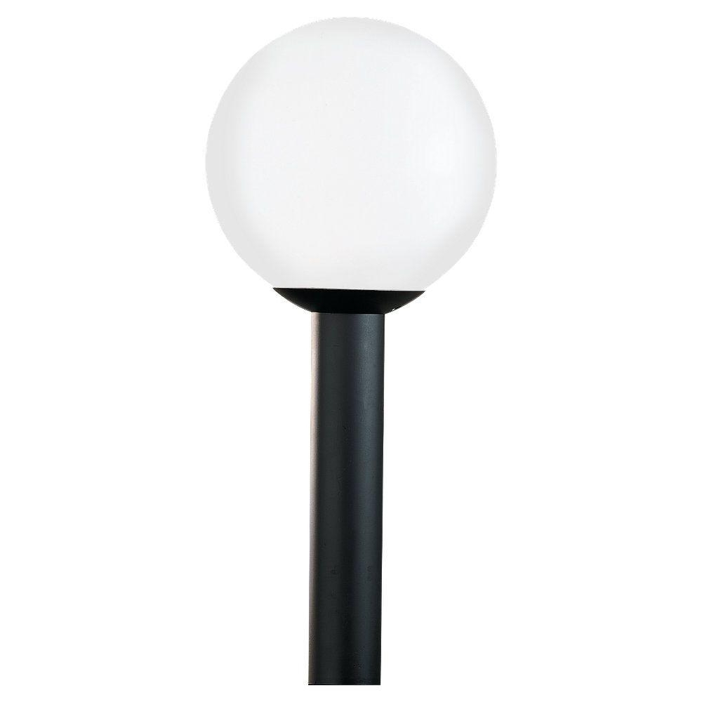 Sea Gull Lighting Outdoor Globe Collection 1 Light Outdoor Post In Recent Outdoor Round Lanterns (View 18 of 20)