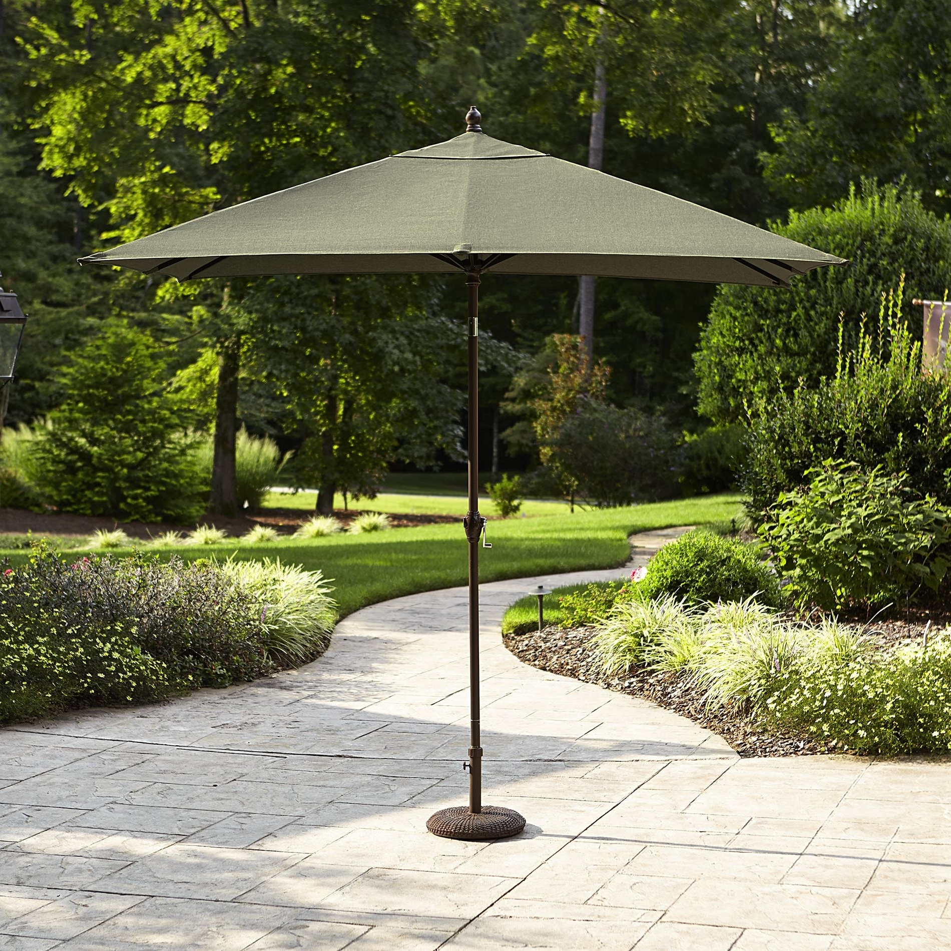 Sears: Green La Z Boy Madeline 9' X 6' Rectangular Patio Umbrella Regarding 2019 Sears Patio Umbrellas (View 17 of 20)