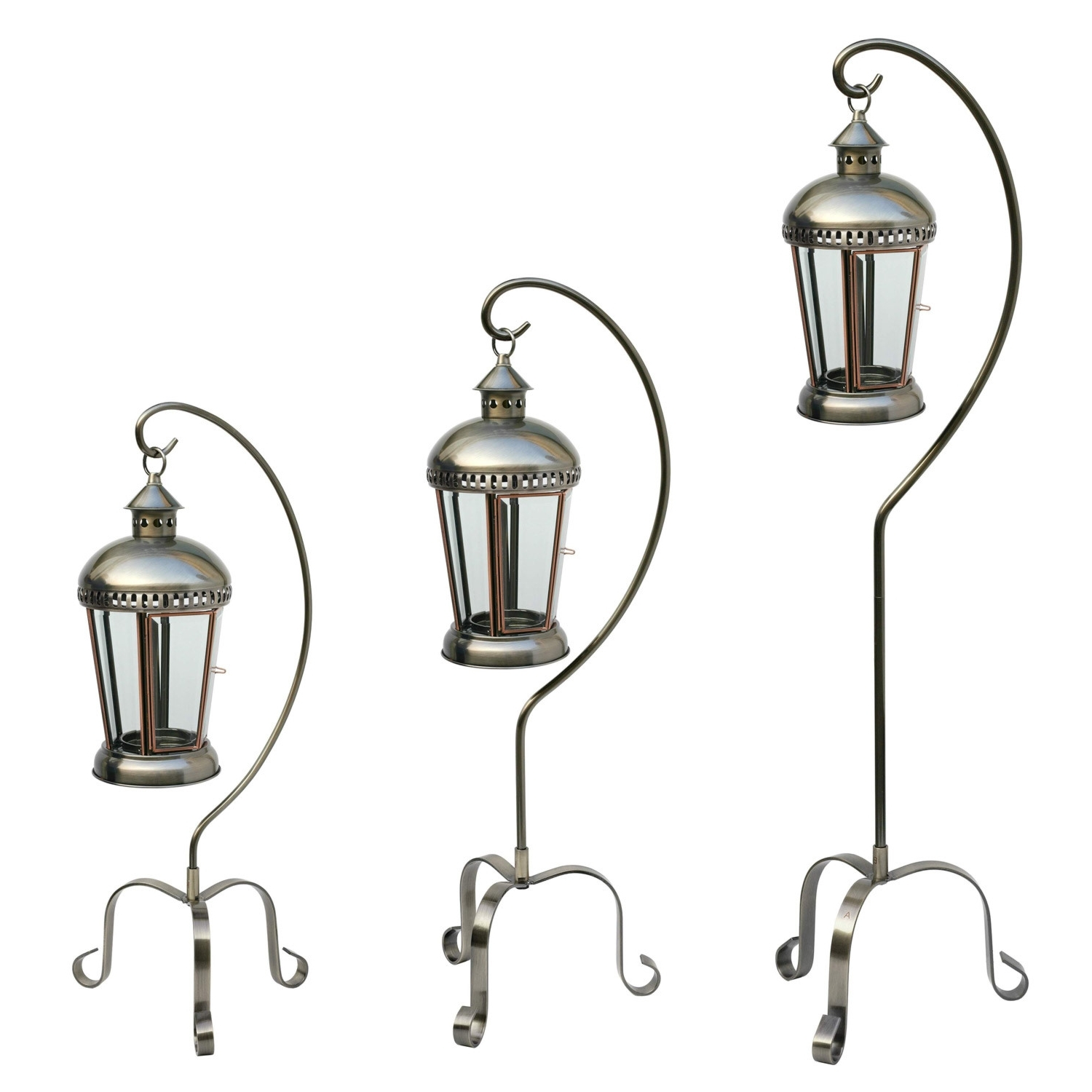 Set Of 3 Outdoor Lanterns With Well Known Set Of Three Lanterns (View 17 of 20)