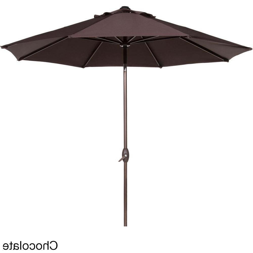 Shop Abba 9 Foot Auto Tilt And Crank Aluminum Patio Umbrella – Free Intended For 2018 Tilting Patio Umbrellas (View 14 of 20)