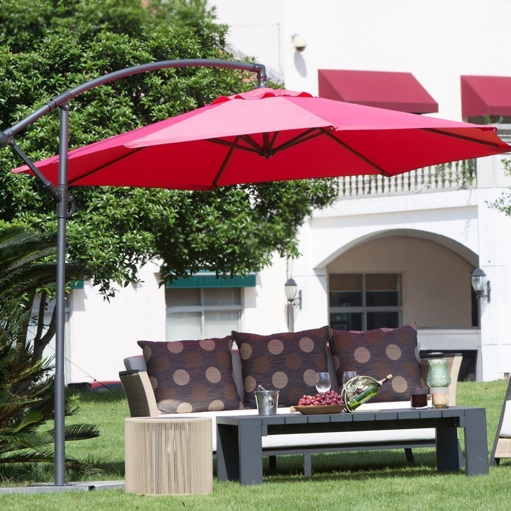 Shop Abba Patio Deluxe Adjustable Offset Cantilever 10 Foot Patio Throughout Most Popular Offset Cantilever Patio Umbrellas (View 7 of 20)