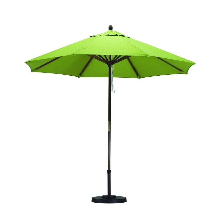 Shop California Umbrella Sunline Lime Green Market 9 Ft Patio In Most Popular Lowes Patio Umbrellas (View 16 of 20)