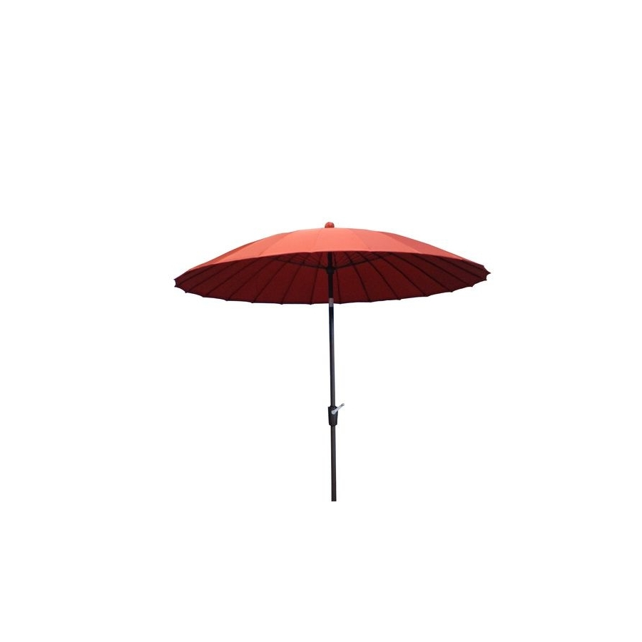 Shop Garden Treasures 8 Ft 2 In Red Round Patio Umbrella At Lowes Within Fashionable Patio Umbrellas At Lowes (View 7 of 20)
