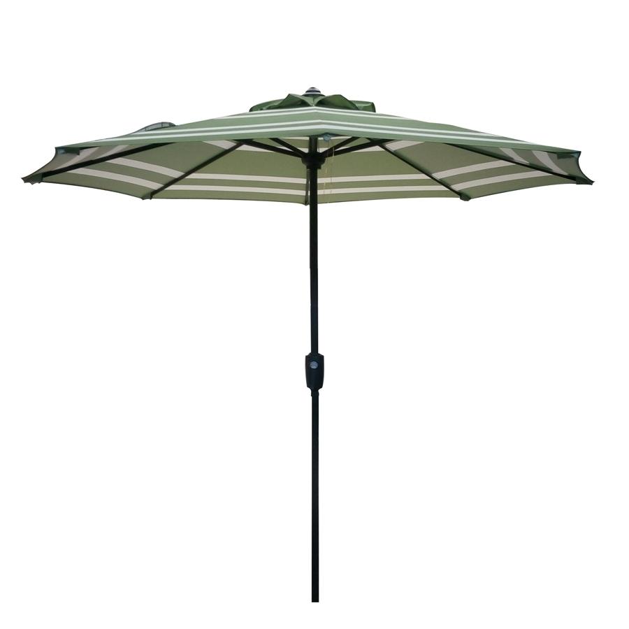 Shop Garden Treasures Market Patio Umbrella (Common: 7.5 Ft W X (View 10 of 20)