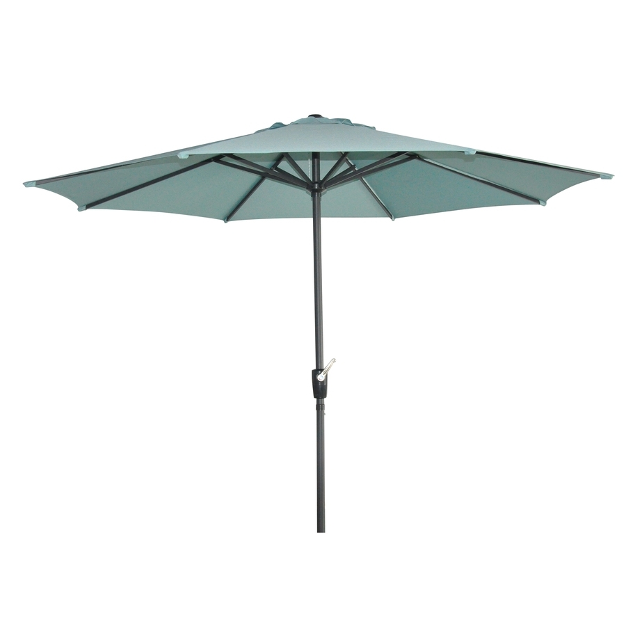 Shop Garden Treasures Patio Umbrella (Common: 105 In W X 105 In L With Regard To Current Garden Treasures Patio Umbrellas (View 16 of 20)