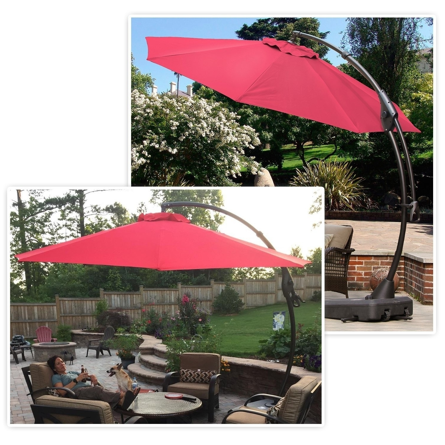 Shop Grand Patio Outdoor 10 Ft Patio Umbrella With Crank Handle And Within Fashionable 10 Ft Patio Umbrellas (View 14 of 20)