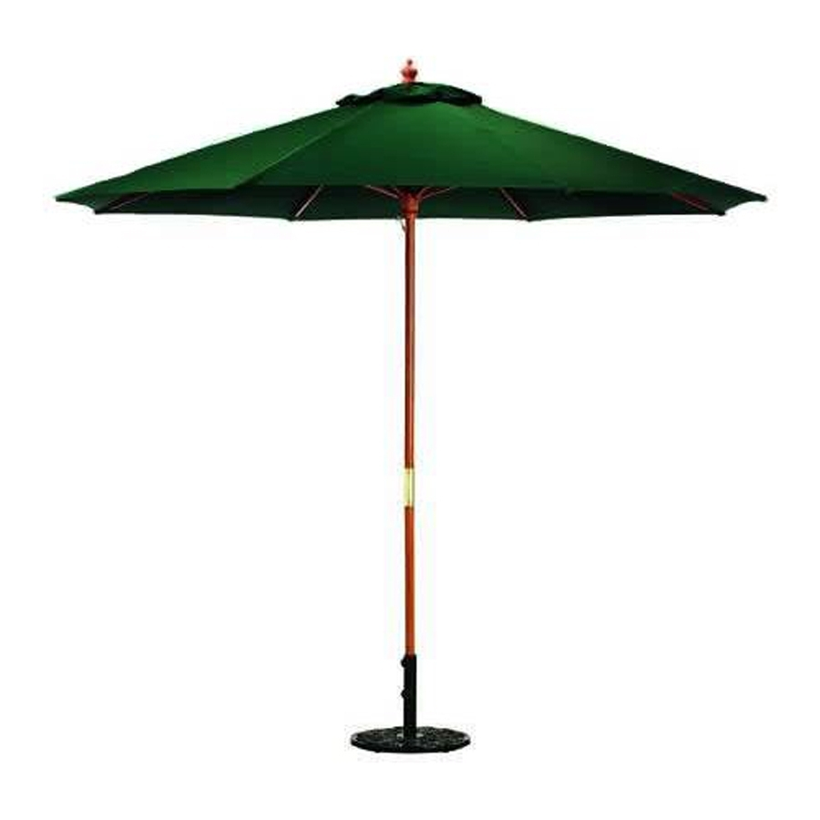 Shop Jordan Manufacturing Green Market 9 Ft Patio Umbrella At Lowes Inside Most Recently Released Jordan Patio Umbrellas (View 13 of 20)