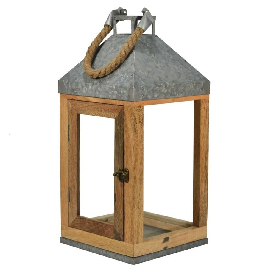Shop Outdoor Decorative Lanterns At Lowes Inside Popular Metal Outdoor Lanterns (View 20 of 20)