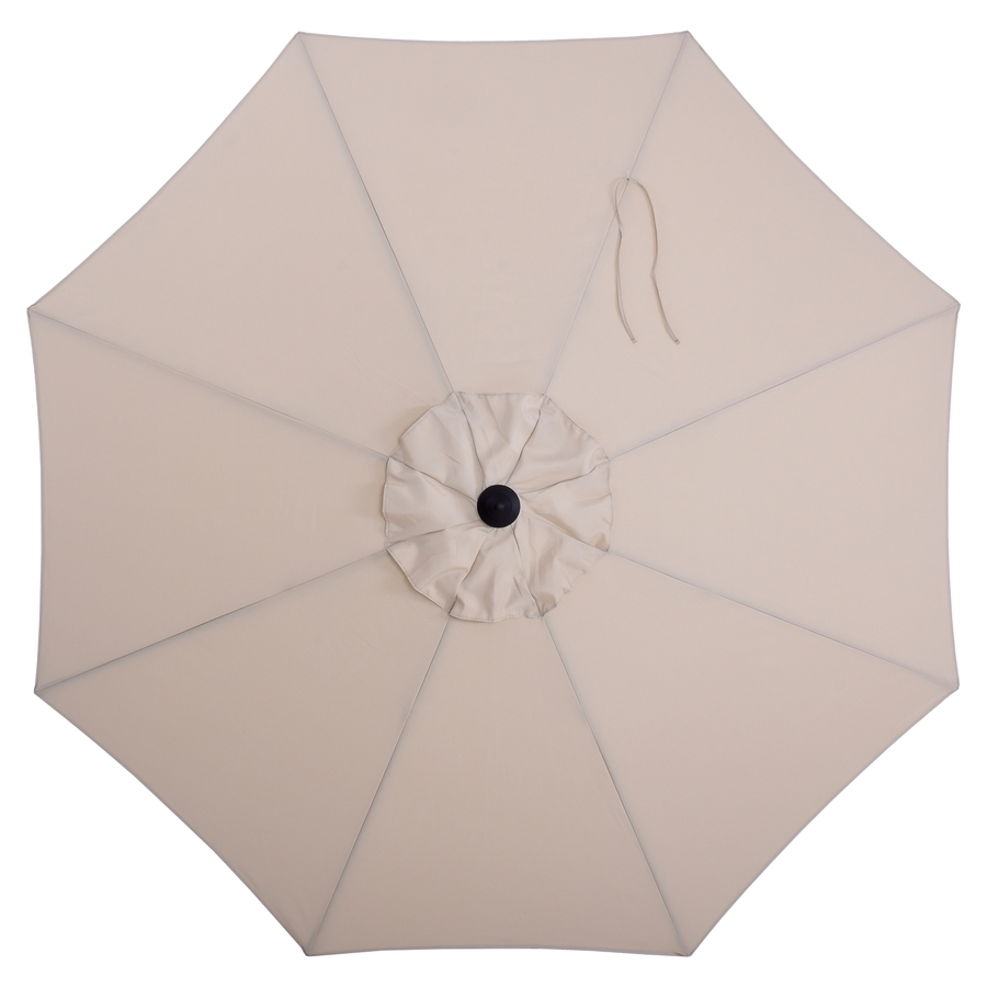 Shop Patio Umbrellas At Lowes Within Most Recent Striped Sunbrella Patio Umbrellas (View 10 of 20)