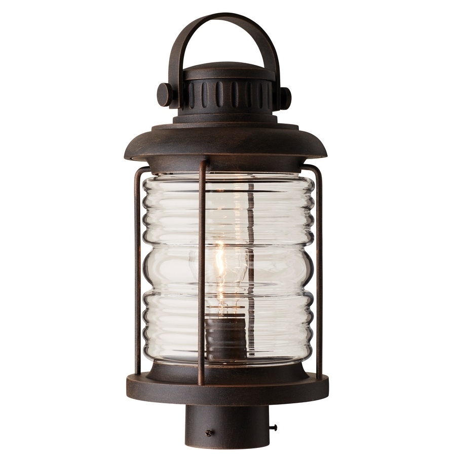 Shop Post Lighting At Lowes Pertaining To Most Recently Released Rust Proof Outdoor Lanterns (View 18 of 20)