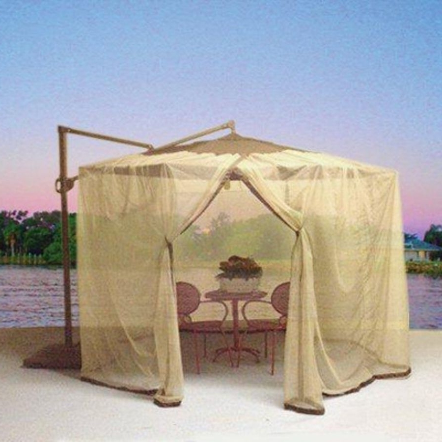 Shop Shade Trends Mosquito Net For Patio Cantilever Umbrella At Throughout Favorite Patio Umbrellas With Netting (View 16 of 20)