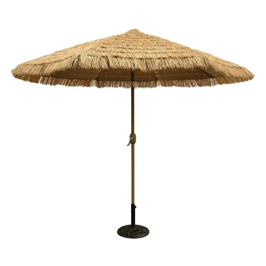 Shop Tropishade Honey Champagne Market 9 Ft Patio Umbrella At Lowes Regarding Most Recent 9 Ft Patio Umbrellas (View 16 of 20)