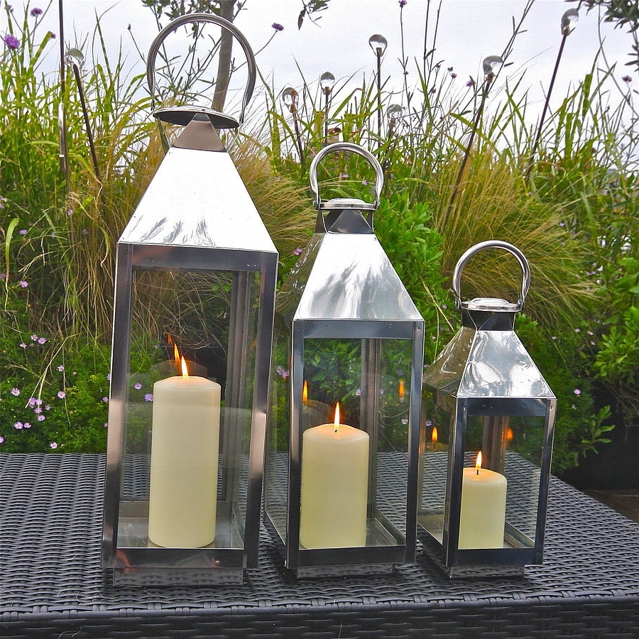 Silver Outdoor Lanterns Inside Latest St Mawes Hurricane Garden Lanternlondon Garden Trading (View 2 of 20)
