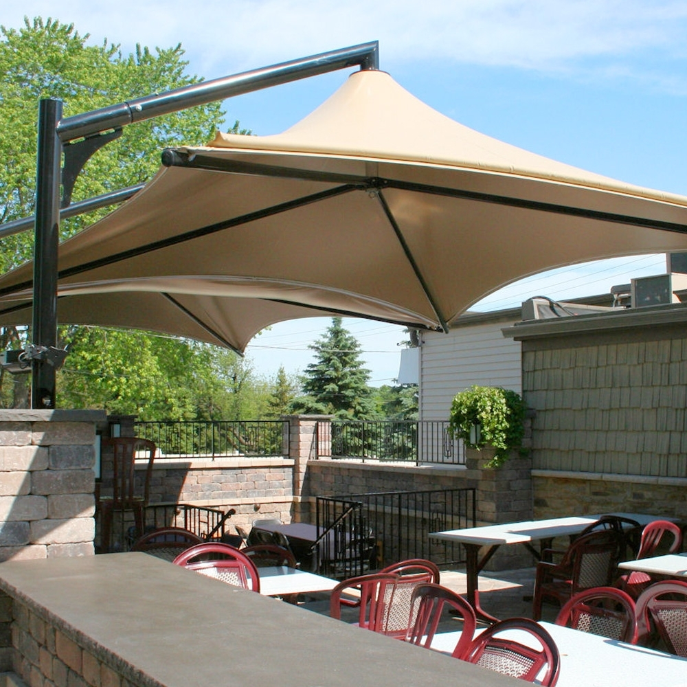 Simple, Well Engineered Shade & Rain Protection Within 2018 Giant Patio Umbrellas (View 18 of 20)