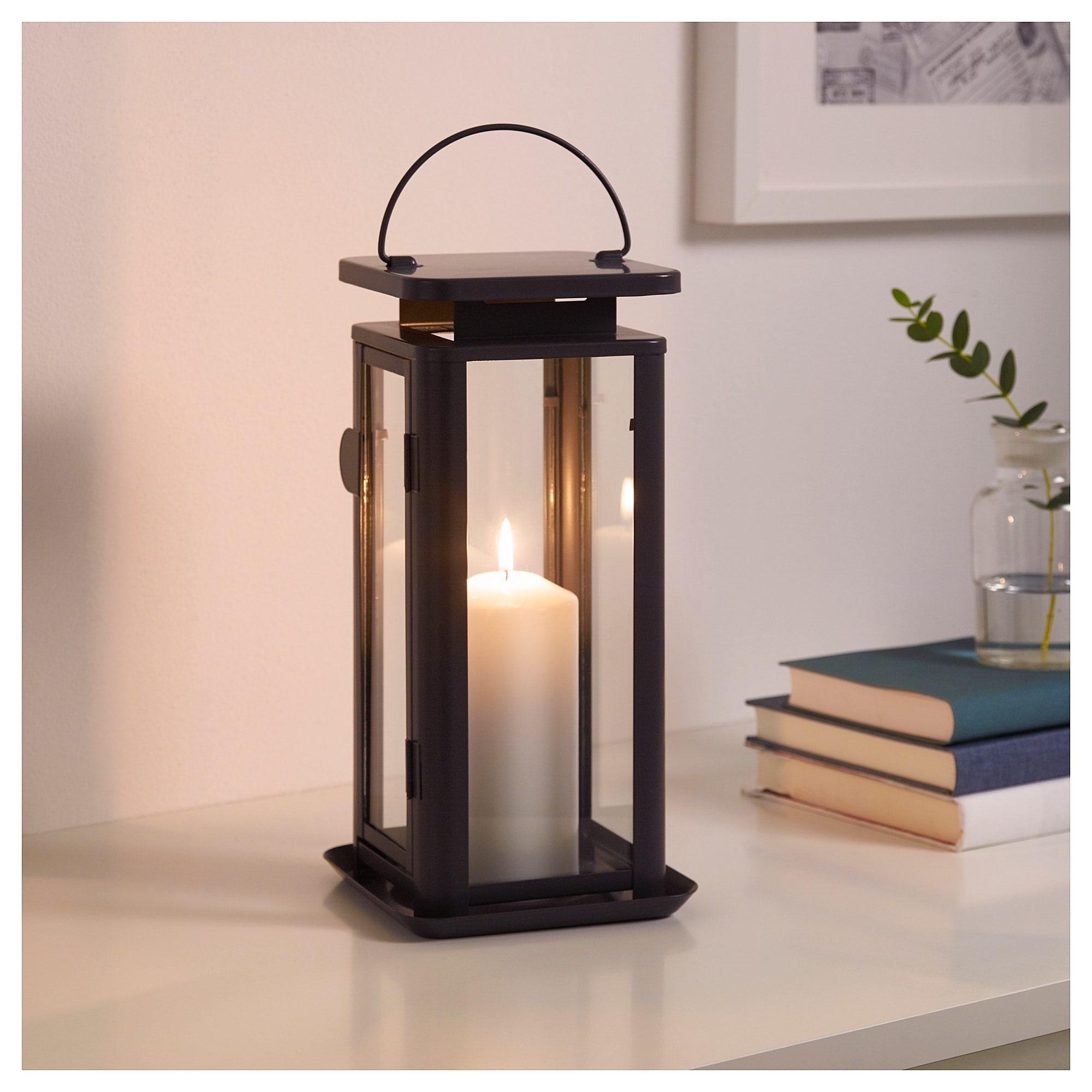 Sinnesro Lantern F Block Candle, In/outdoor Grey 29 Cm – Ikea Within Most Popular Outdoor Grey Lanterns (View 16 of 20)