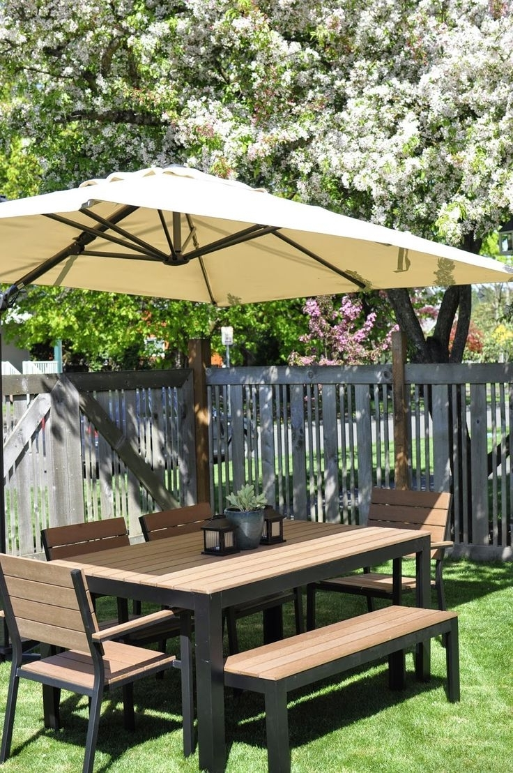 Small Patio Tables With Umbrellas Hole Within Most Up To Date Patio: Amazing Small Patio Table With Umbrella Outdoor Furniture (View 19 of 20)