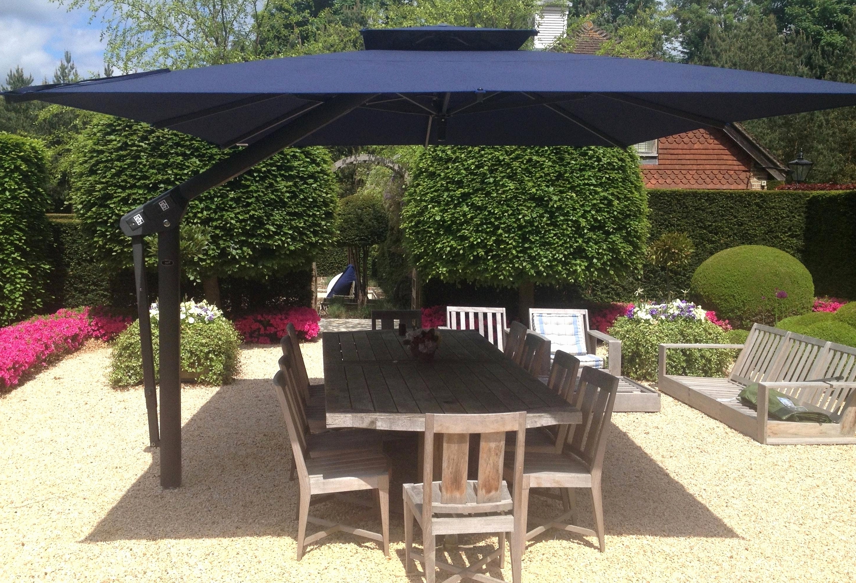 Small Patio Tables With Umbrellas Pertaining To Well Known Small Patio Umbrella Part 2 Outdoor Umbrellas – Theestatesga (View 15 of 20)
