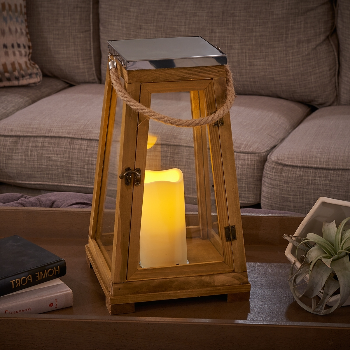 Smart Living Pertaining To Outdoor Wood Lanterns (View 3 of 20)