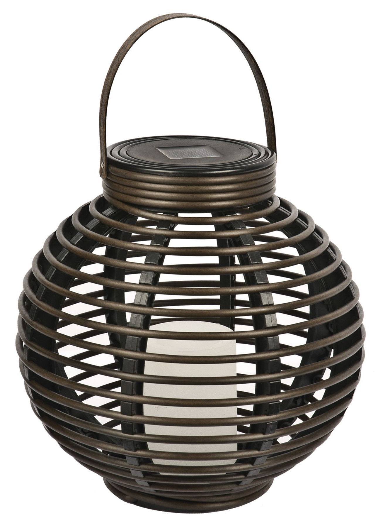 Solar Flickering Basket Hanging Plastic Lantern Rattan And Intended For Current Outdoor Rattan Lanterns (View 2 of 20)