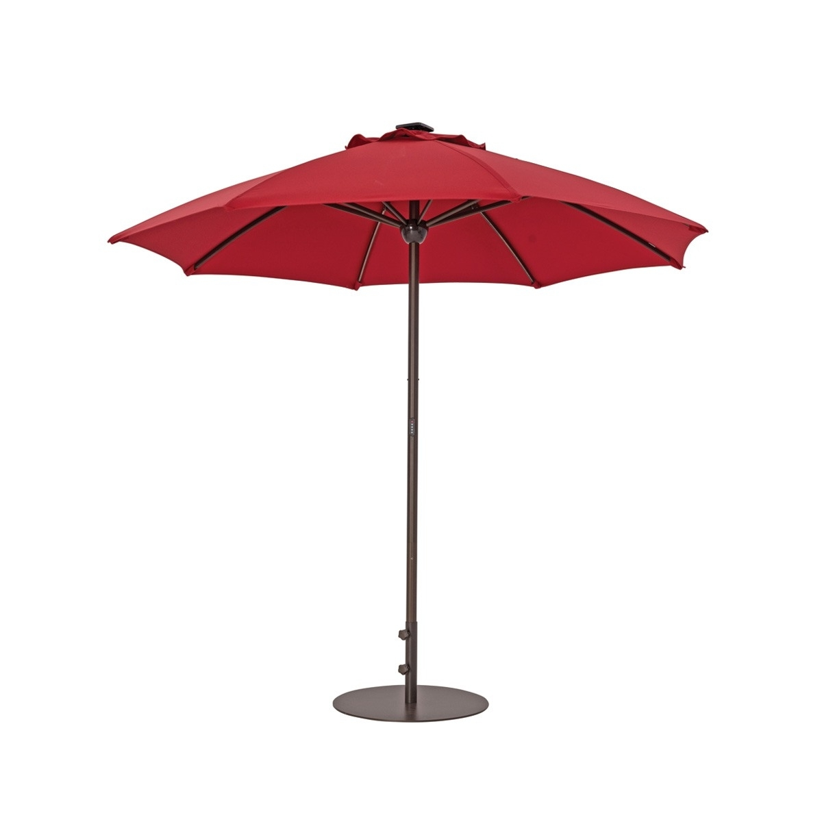 Solar In Sunbrella Patio Umbrellas With Solar Lights (View 9 of 20)