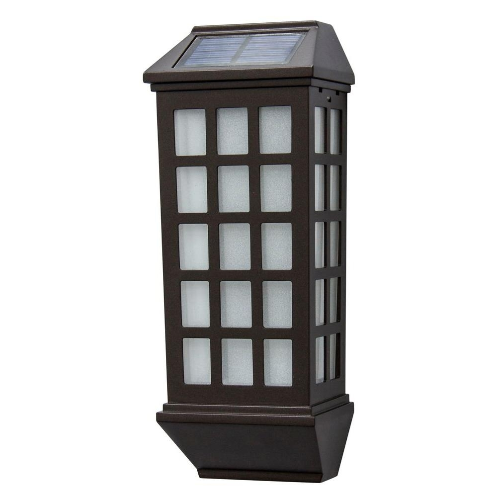 Solar – Outdoor Lanterns – Outdoor Lighting – Lighting – The Home Depot Pertaining To Widely Used Outdoor Solar Lanterns (View 18 of 20)