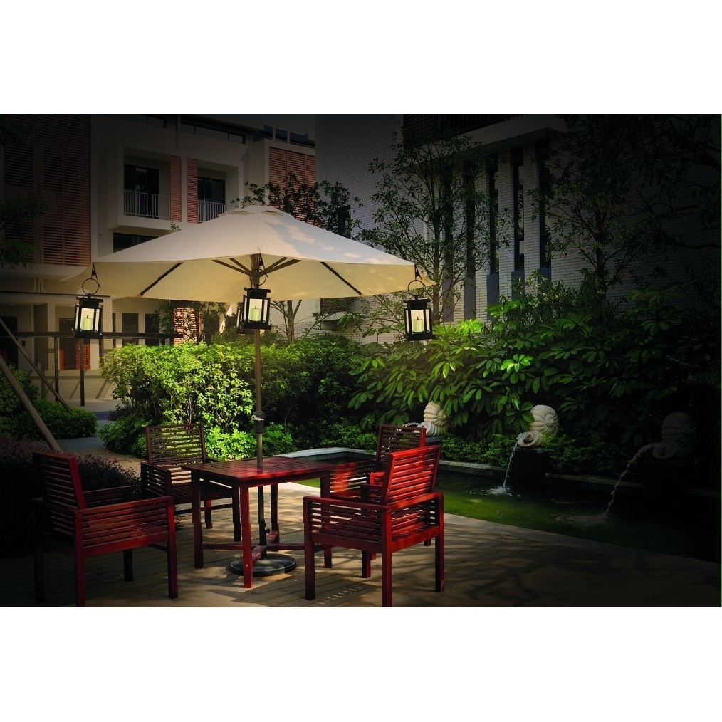 Solar Powered Patio Umbrella Lights Cement Different – Arelisapril Pertaining To Current Solar Powered Patio Umbrellas (View 14 of 20)