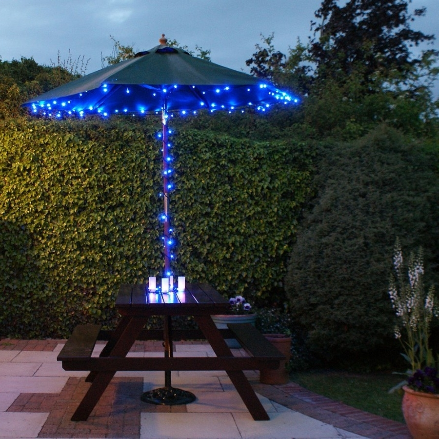Solar Powered Patio Umbrellas Inside Most Popular Lighted Patio Umbrellas — Mistikcamping Home Design : Different (View 13 of 20)