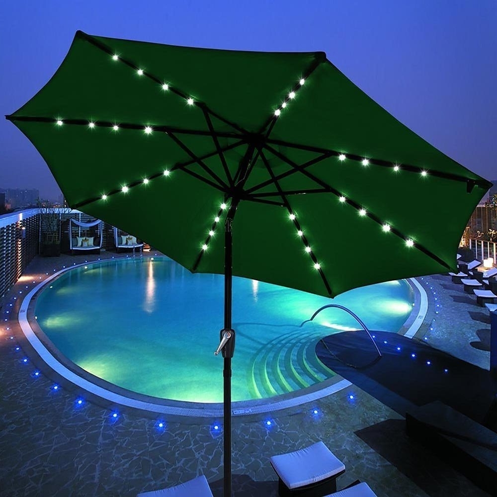 Solar Powered Patio Umbrellas Throughout Preferred Solar Powered Patio Umbrella » Gadget Flow (View 17 of 20)