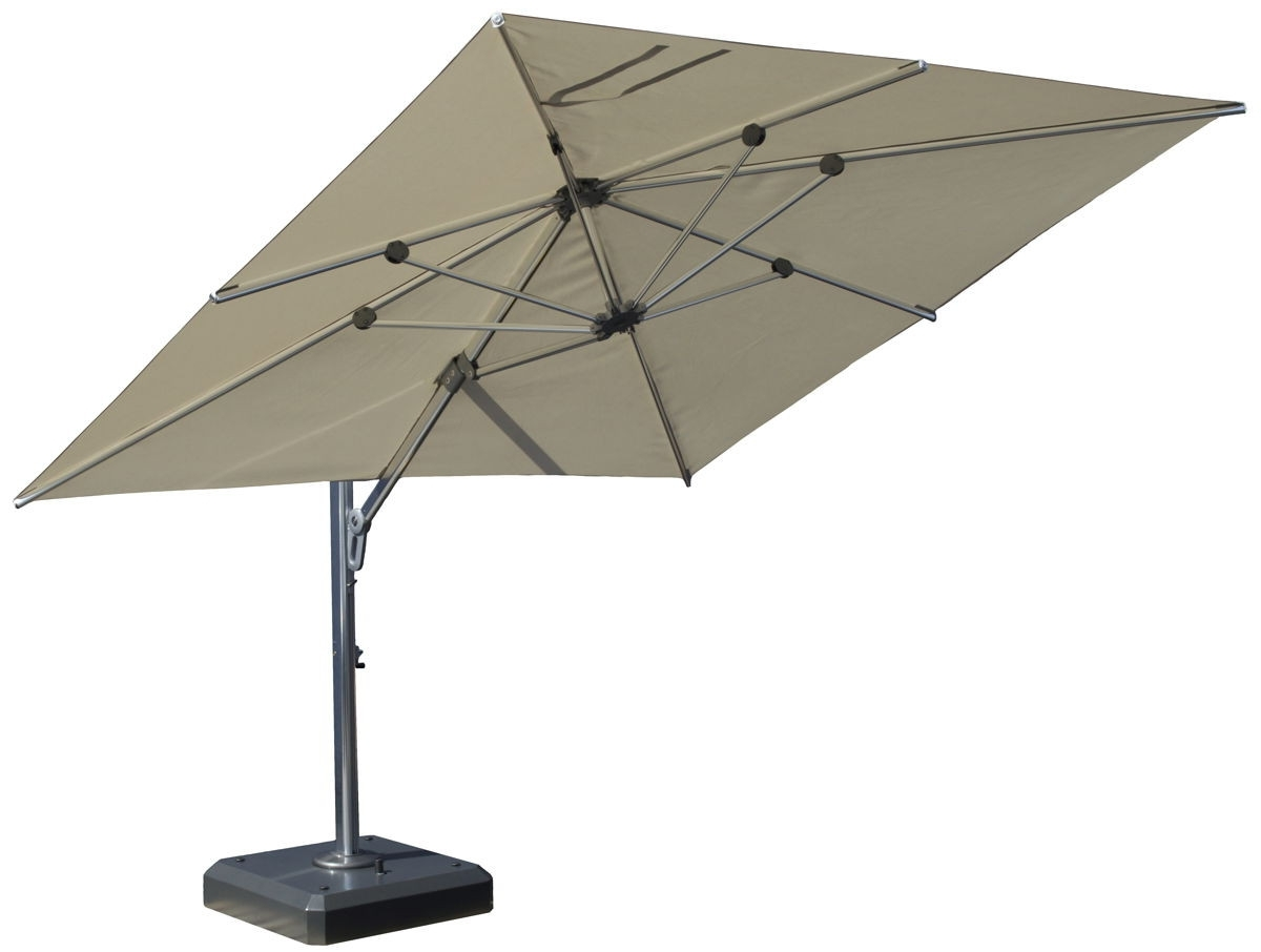 Square Cantilever Patio Umbrellas Pertaining To Fashionable Square Cantilever Patio Umbrella – Arelisapril (View 14 of 20)
