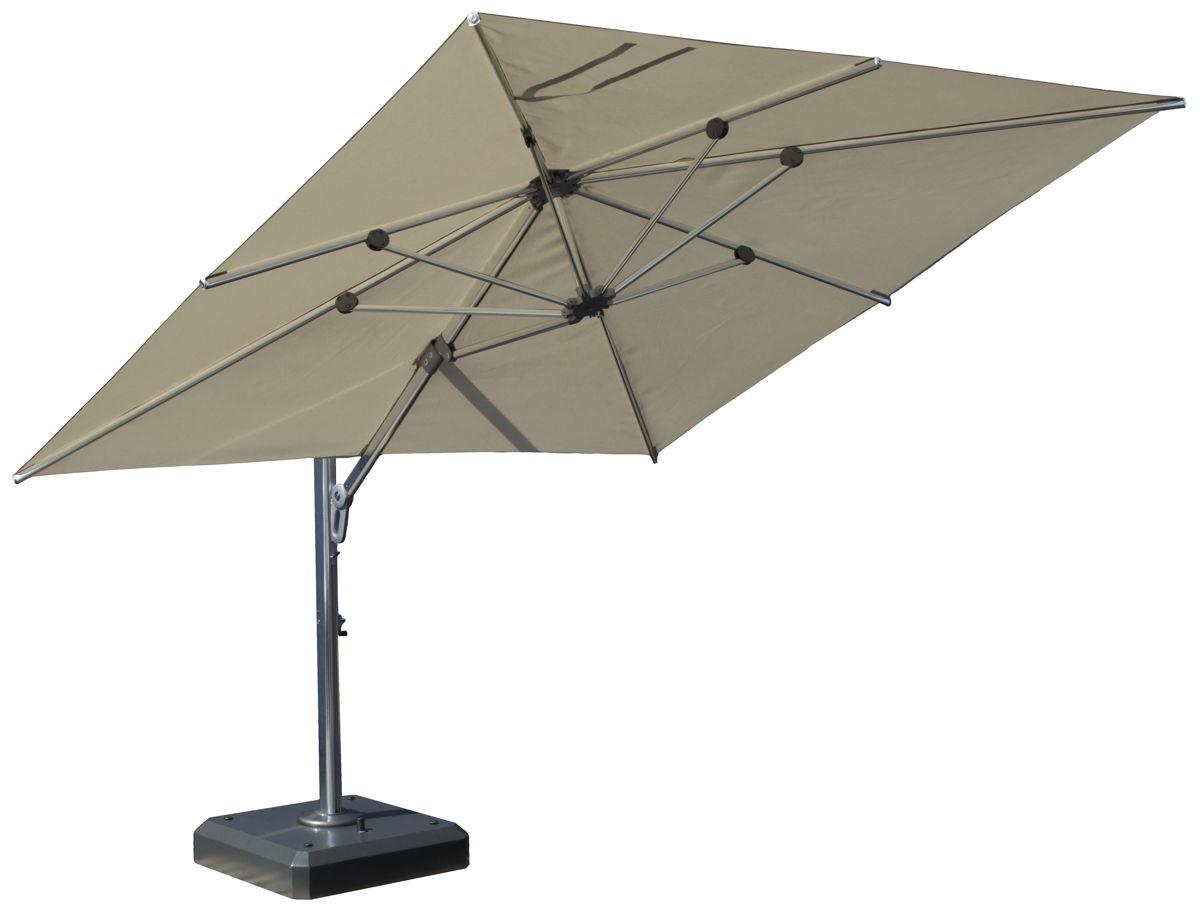 Square Cantilever Patio Umbrellas Pertaining To Fashionable Square Cantilever Patio Umbrella – Arelisapril (View 17 of 20)