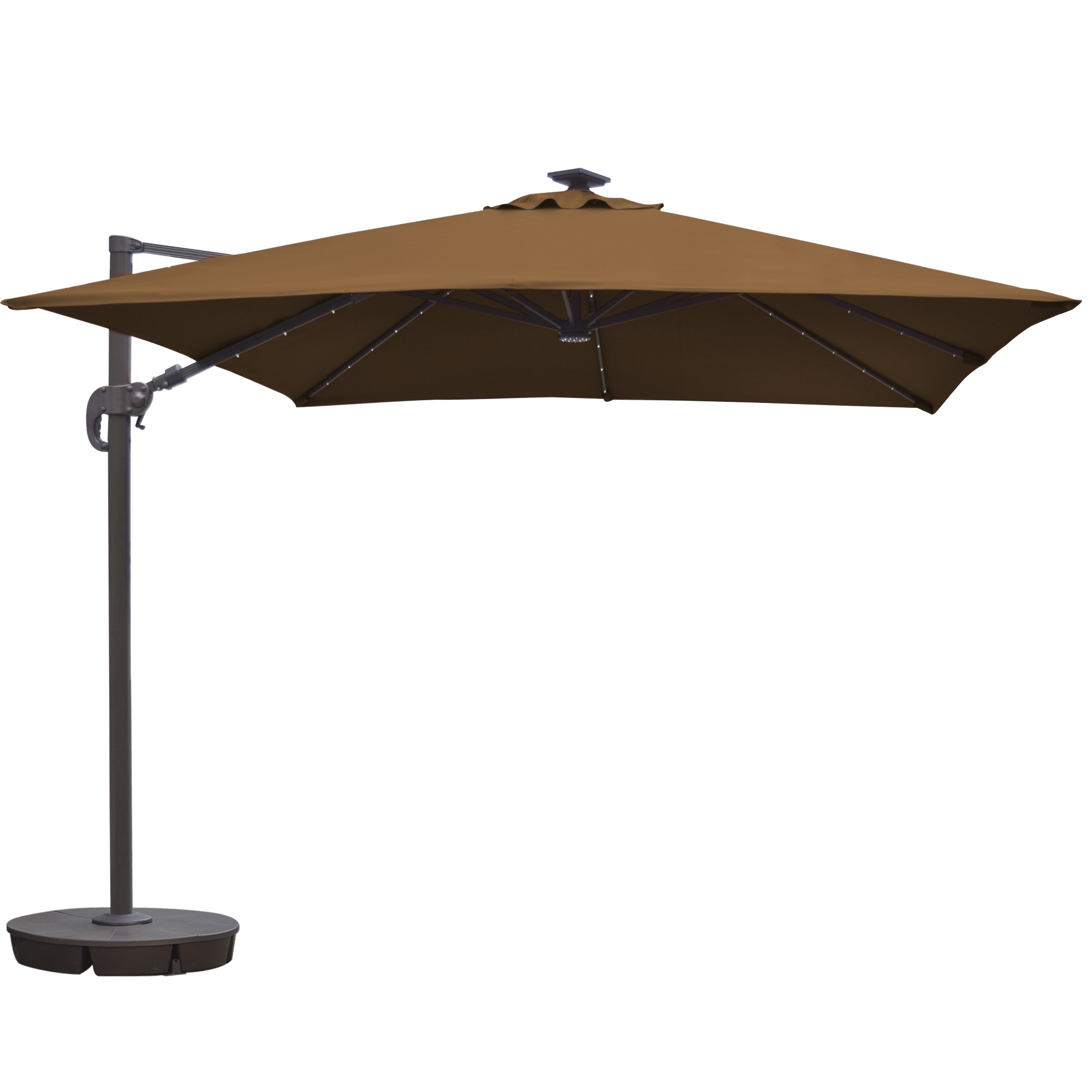 Square Cantilever Patio Umbrellas Pertaining To Most Recently Released Island Umbrella Santorini Ii Fiesta 10 Ft Square Cantilever Solar (View 12 of 20)