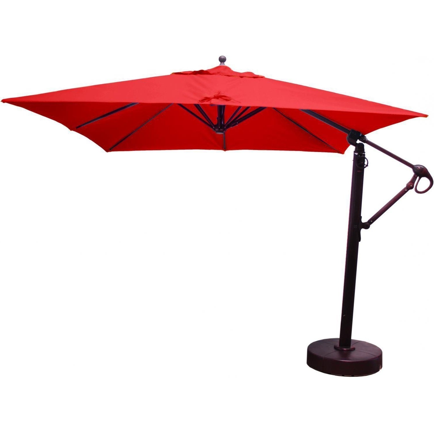Square Patio Umbrellas Throughout Most Recently Released Galtech 10 Ft Aluminum Square Cantilever Patio Umbrella With Easy (View 15 of 20)