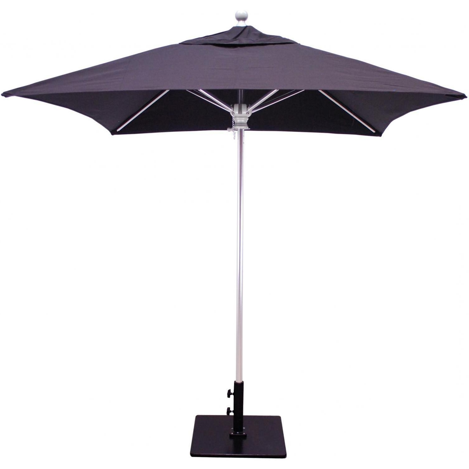 Square Patio Umbrellas Within 2018 Galtech Sr Series 6 Ft Aluminum Square Commercial Patio Umbrella (View 17 of 20)