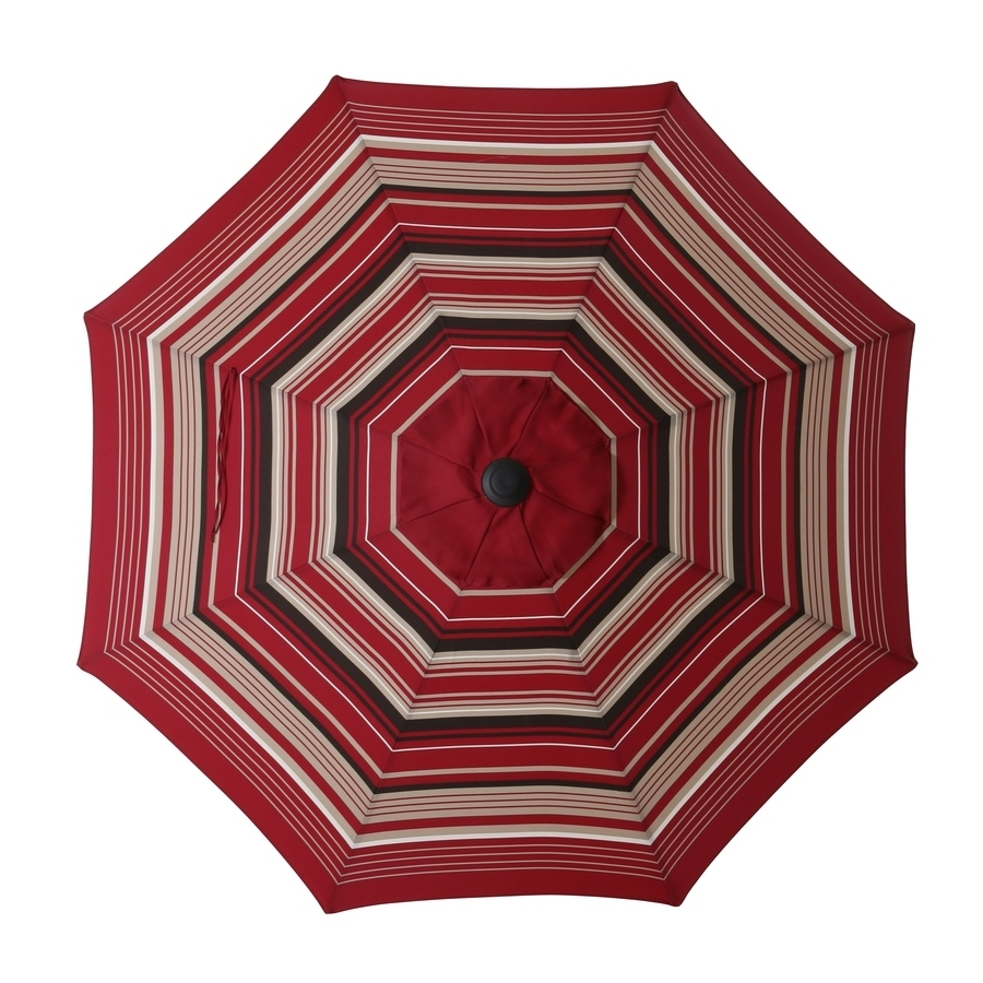 Striped Patio Umbrellas For Preferred Shop Garden Treasures Patio Umbrella At Lowes (View 6 of 20)