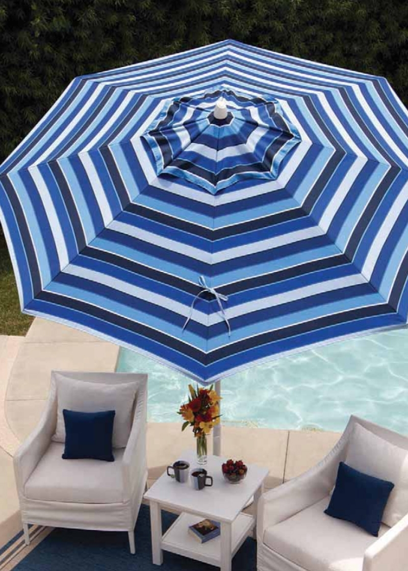 Striped Sunbrella Patio Umbrellas For Famous 93 Striped Patio Umbrellas, Best Outdoor Patio Umbrellas: A Twist On (View 5 of 20)